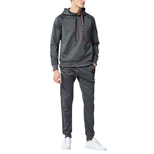 Hommes Crayon Gris Hoodie Ai Pantalons Haut Et Gym Plaine Foncé Dailywear Sportswear Ensemble moichien Survêtement w5qCaF