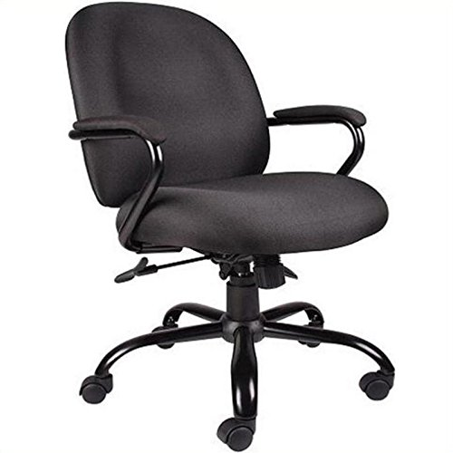 Boss Office Products B670 BK Heavy Duty Task Chair In Black