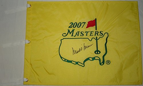 Mark O'Meara Hand Signed / Autographed 2007 The Masters Flag - Augusta National - 2007 Soccer Jersey
