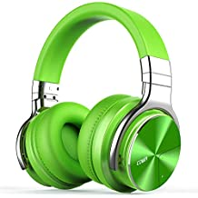 COWIN E7 Pro [2018 Upgraded] Active Noise Cancelling Headphones Bluetooth Headphones with Mic Hi-Fi Deep Bass Wireless Headphones Over Ear 30H Playtime for Travel Work TV Computer Cellphone - Green