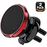 Phone Holder for car Air Vent Mount - Universal Magnetic Phone Car Mount for iPhone Xs/Xr/8/8Plus/Samsung Galaxy S9/S8 and all Smartphone [2 Pack], 24-Hour Customer Support