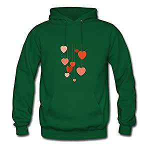 Styling Women The Hangin' Hearts Painting X-large Hoody Green