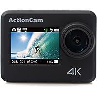 KOONLUNG HD128 4K WIFI Sports Action Camera Ultra HD Waterproof DV Camcorder 12MP 170 Degree Wide Angle.Waterproof 40M DVR,