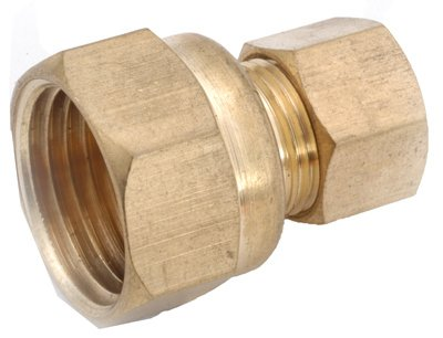 Anderson Metals 750066-0402 Pipe Fitting, Connector, Lead-Free Brass, 1/4 Compression x 1/8-In. FPT - Quantity 10