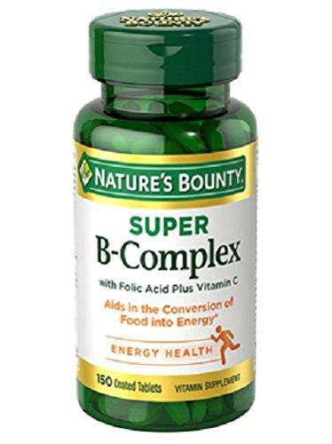 Nature's Bounty Super B-complex with Folic Acid Plus Vitamin C, 150-Count
