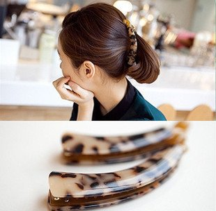 usongs 125 jewelry hair jewelry amber leopard pony tail clip banana clip hairpin on folder