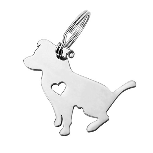 HOUSWEETY 1pc Stainless Steel Pit Bull Pendant 3.1x2.9cm