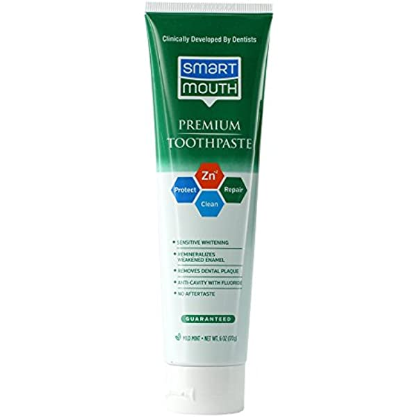 Amazon Com Smartmouth Premium Zinc Ion Toothpaste Mild Mint 6