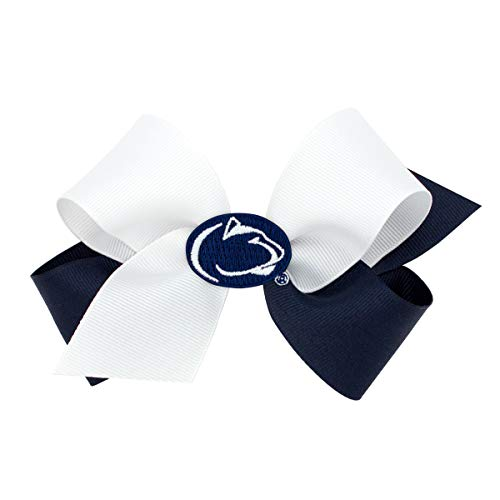 Wee Ones Medium Size Two Tone Collegiate Girl's Hair Bow