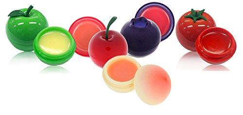 TONYMOLY-Mini-Lip-Balm-7g-Cherry-Blueberry-Peach-Green-Apple-Cherry-Tomato-Total-5pcs-Set