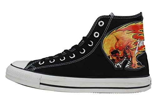 pointure eur LIMITED Edition Converse Sneaker ALL CT Skull Metallica Star Chucks Totenkopf 42 wqvgP60