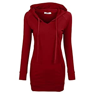 Well-Being-Matters 41Syim-f9LL._SS300_ BEPEI Womens Long Sleeve Tunic Hoodie Dress String Sweatshirts with Pockets