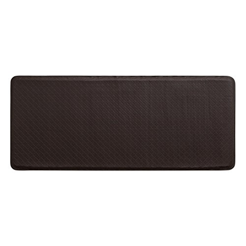 "GelPro Classic Anti-Fatigue Kitchen Comfort Chef Floor Mat, 20x48"", Basketweave Truffle Stain Resistant Surface with 1/2"" Gel Core for Health and Wellness by GelPro"