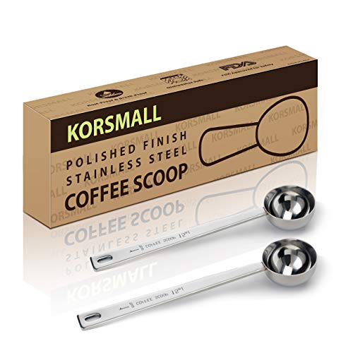 - Measuring Coffee Spoon 1 Tablespoon Coffee Scoop with Long Handle,15ml Stainless Steel Coffee Scoop Set, Pack of 2
