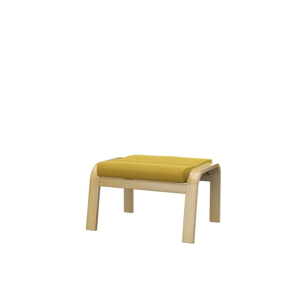 Soferia Replacement Cover for IKEA POÄNG Footstool, Fabric Elegance Dark Yellow by Soferia