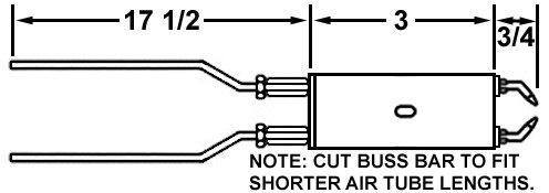 CROWN 100989-061 SINGLE BLOCK ELECTRODE SET FOR WAYNE HS SINGLE BLOCK BURNERS