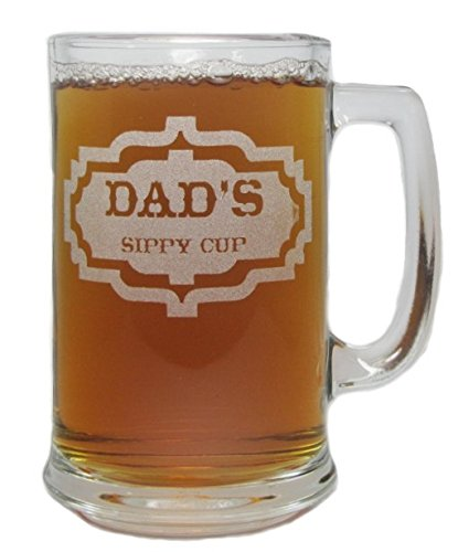 Dad's Sippy Cup 15oz. Beer Mug with Handle by Orange Kat
