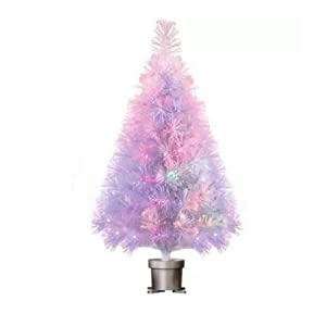 "Holiday Time Pre-Lit 32"" White Fiber Optic Artificial Christmas Tree 107"