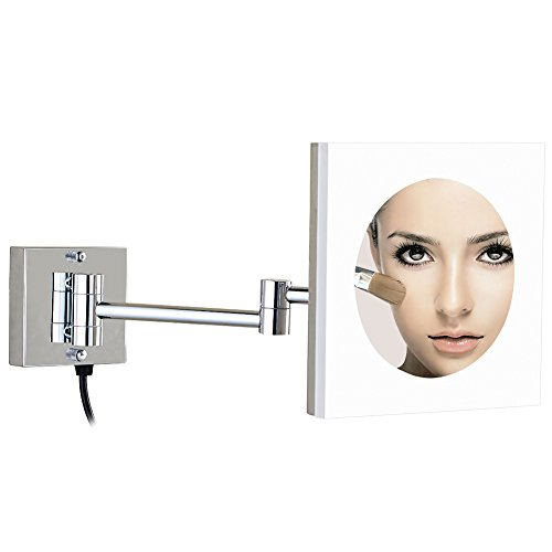 GURUN 8-Inch Adjustable LED Lighted Wall Mount Makeup Mir...