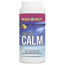 Natural Vitality calm, raspberry lemon flavor magnesium 16 oz