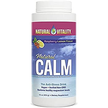 Natural Vitality Natural Calm Diet Supplement, Raspberry Lemon, 16 Ounce