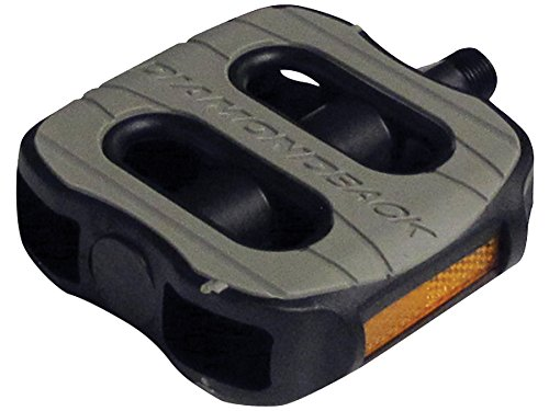 Diamondback 9/16-Inch Spindle Bicycle Comfort Pedal, Black/Gray