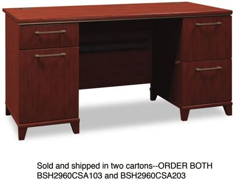 Bush Double Pedestal Desk