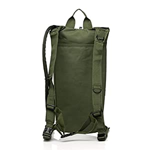 US Army 3L 3 Liter (100 ounce) Hydration Pack Bladder Water Bag Pouch Backpack Hiking Climbing Survival Outdoor (Military Green)