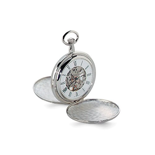 Charles Hubert Chrome-finish White Dial Pocket Watch ()