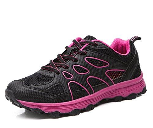 Scarpe Black da Indossabile da Scarpe donna Praticare all'aria trekking Scarpe corsa da casual montagna Sport Scarpe Antiscivolo da Traspirabilità aperta HwPdEwq