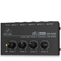 Behringer Micromix MX400 Mezclador de línea de 4 canales de ruido ultra bajo