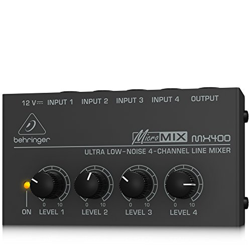 Behringer Micromix MX400 Ultra Low-Noise 4-Channel Line Mixe