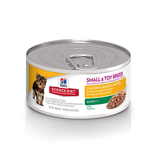 Hill's Science Diet Canned Dog Food, Puppy, Small Paws, Chicken & Barley Entrée, 5.8 oz, 24 -