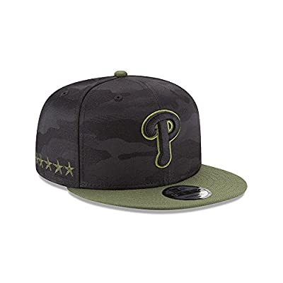 New Era Authentic Philadelphia Phillies Memorial Day Salute To Service 9Fifty SnapBack Hat Cap One Size