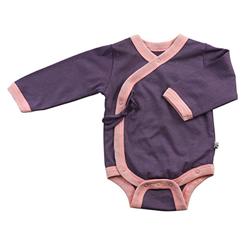 (Baby Soy All-Natural Kimono Bodysuit, Eggplant, 3-6 Months)