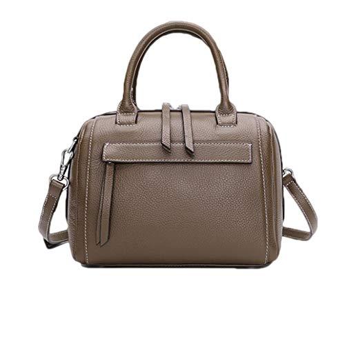 Hombro Boston Gray De Capa Cuero One Baotou Nero Bolsos Acvxz Dimensioni Moda Bolsa colore Size Portátil Wq4zR0WwcZ