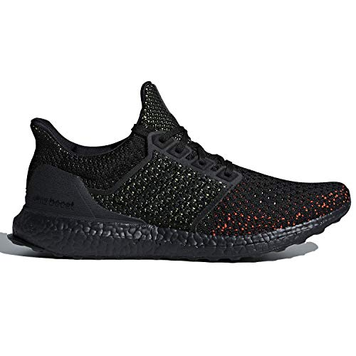 adidas Men's Ultraboost Clima Running Shoe, Black/Solar red, 10 M US