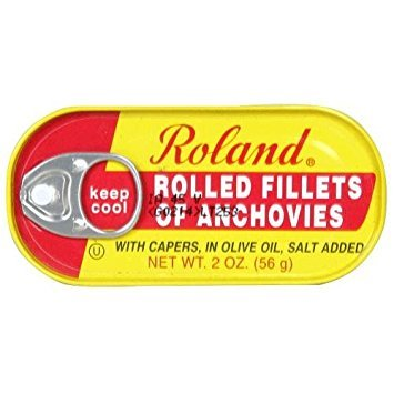 Rolled Fillet - ROLAND ANCHOVY FILET ROLLED, 2 OZ