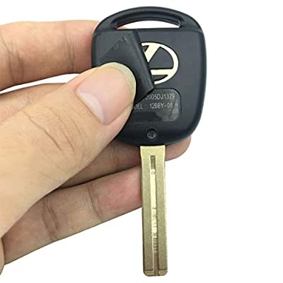 Replacement Keyless Entry Remote Control Key Shell fits Lexus ES GS GX is LS LX RX SC Key Fob Csae Cover With Blade (Black pack 2): Automotive