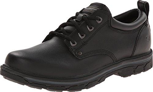 Skechers Men's Segment - Rilar Black Leather 6.5 M