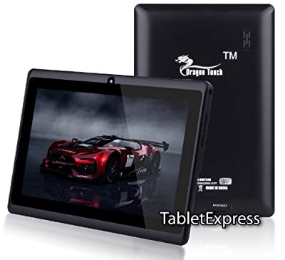 Dragon Touch® 7'' Black Google Android 4.2 Jelly Bean Allwinner A13 Multimedia Tablet MID PC, 4GB, Google Play Pre-Installed, USB-OTG, Supports Skype Video Chat Calling, Netflix Movies and Flash Player, A13-MID744B [by TabletExpress]