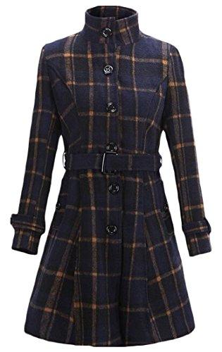 Plaid Belted Coat - 4