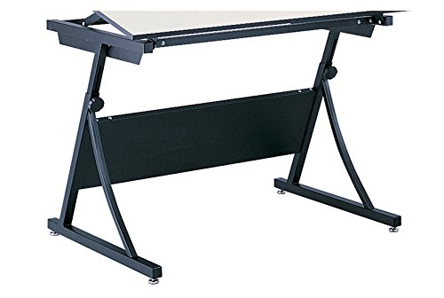 Safco Products 3957 PlanMaster Adjustable Drafting Table Base for use with 3948, 3951 Table Top, sold separately, Black
