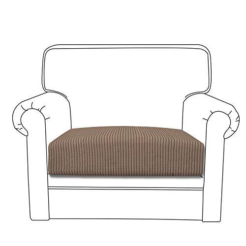 One Cushion - Easy-Going Stretch Cushion Cover Sofa Cushion Furniture Protector Sofa Seat Sofa slipcover Sofa Cover Soft Flexibility with Elastic Bottom(Chair Cushion,Camel)