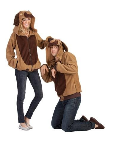 Human Dog Costume (RG Costumes Devin The Dog Hoodie, Brown/Tan, Large)