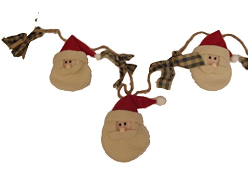 9 Ft Country Plush Vintage Style Santa Claus Holiday Garland ()