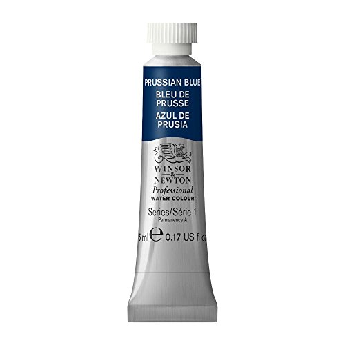 Winsor & Newton Professional Water Colour Paint, 5ml tube, Prussian Blue (Best Navy Blue Paint Color)