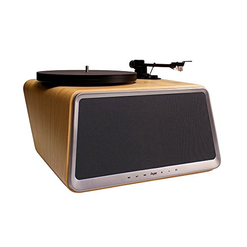 Superior Vinyl Record Player,HYM Originals Seed All in One Record Player Stereo Audio Smart Vinyl Records Turntable Built in 80Watt HiFi Speakers Bluetooth Wifi AUX-in USB White Oak Case by HYM Originals (Image #3)