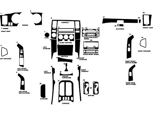 Rdash Dash Kit Decal Trim for Toyota 4Runner 2006-2009 - Diamond (Diamond Plate Dash)