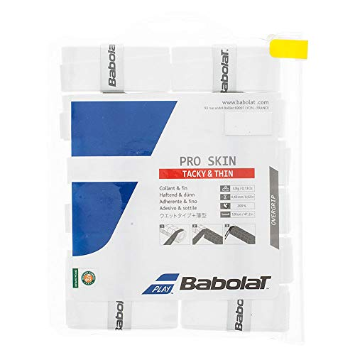 Babolat Pro Skin Tennis Overgrip 12 Pack White
